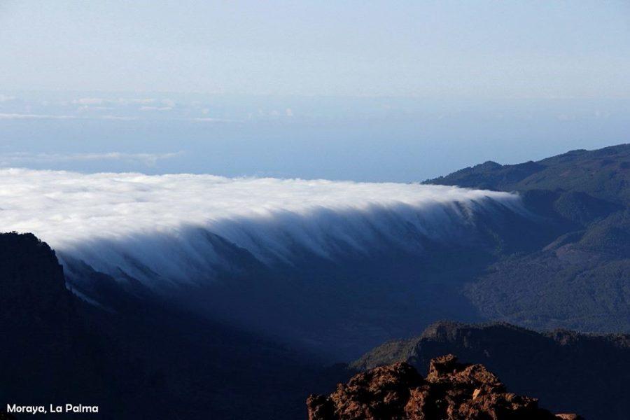 El efecto Foehn en la isla de La Palma